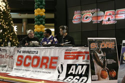 Minnesoat Score Radio at Mall of America